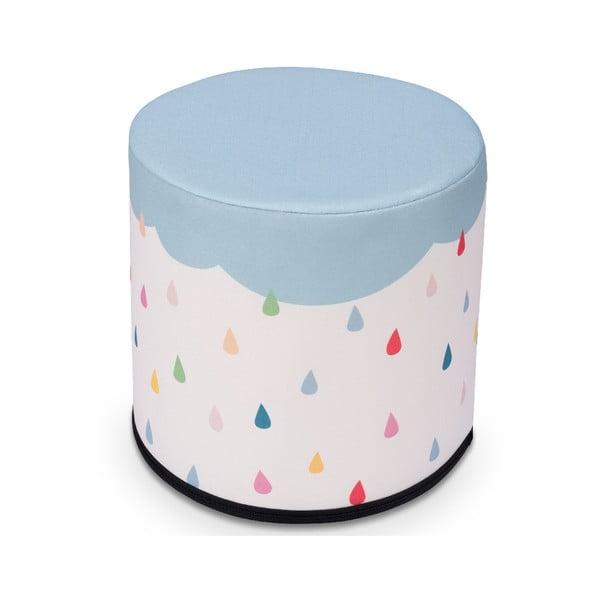 Puf pentru copii KICOTI Rain, 40 x 40 cm, multicolor