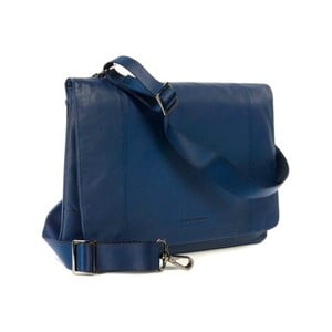 Modrá taška na rameno z italské kůže Tucano One