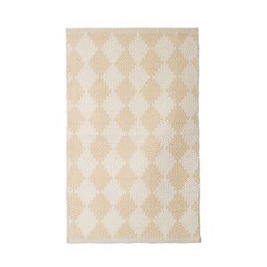Bavlněný ručně tkaný koberec Pipsa Curry Diamond, 60x90 cm