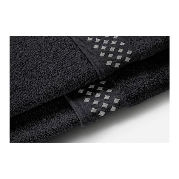 Set tmavě šedé osušky a ručníku z bavlny Maison Carezza Lazio