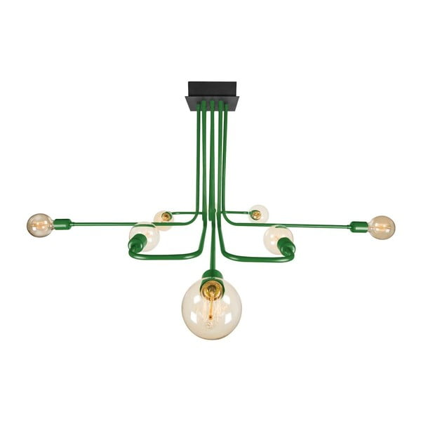 Zelené stropní svítidlo Spider