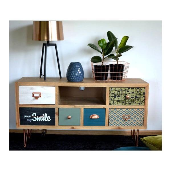 Comodă TV din lemn de brad Livin Hill Portofino
