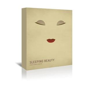 Obraz na plátně Sleeping Beauty With Text od Christiana Jacksona