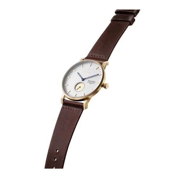 Unisex hodinky s koženým řemínkem Triwa Snow Falken