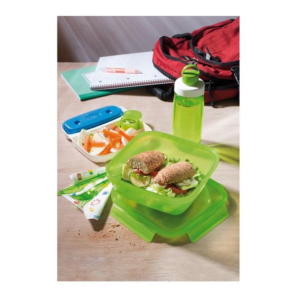 Komplet pojemnika na lunch ze sztućcami i butelką na wodę Snips Ice Box