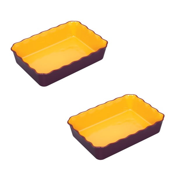 Sada 2 zapékací mís na burritos Mexican Flavour Purple