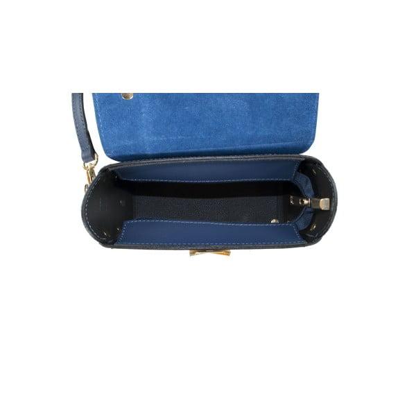 Tmavě modrá kožená kabelka Infinitif Chelsea