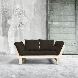 Canapea extensibilă Beat Natural/Choco Brown