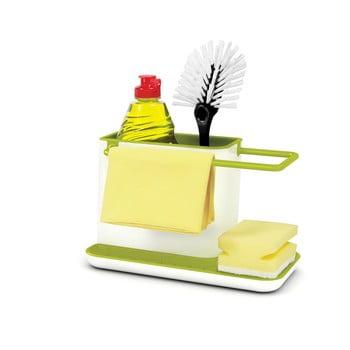 Suport pentru detergent de vase Joseph Joseph Caddy Sink Tidy, alb-verde