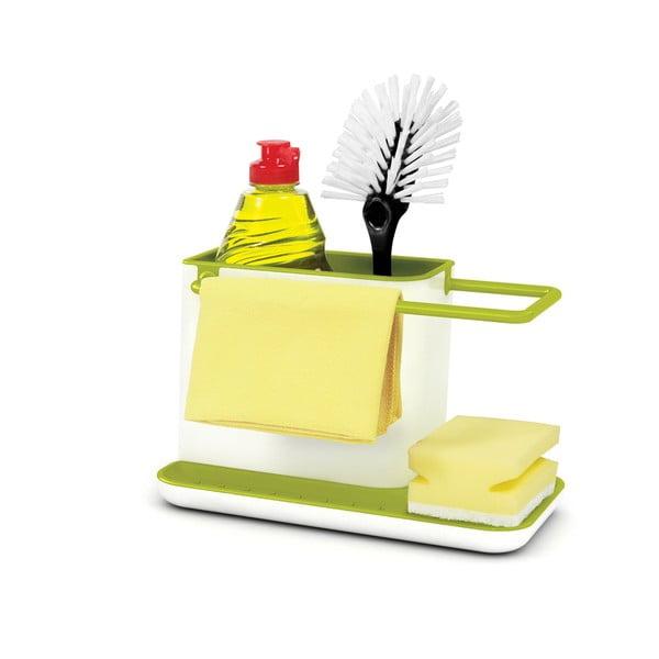 Caddy Sink Tidy zöld-fehér mosogatóeszköz-tartó állvány - Joseph Joseph