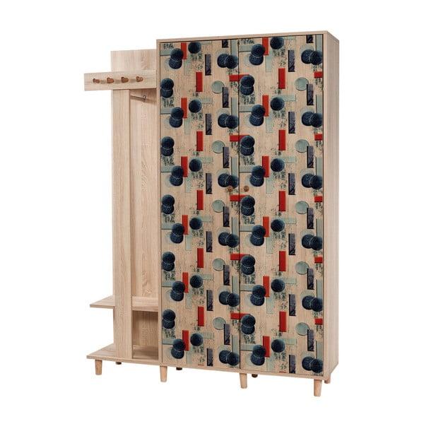 Garmanto Blue barna előszoba szekrény, magasság 194 cm