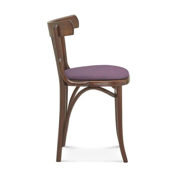 Dřevěná židle s fialovým polstrováním Fameg Mathias