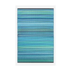 Modro-zelený oboustranný venkovní koberec Green Decore Weaver, 90 x 150 cm