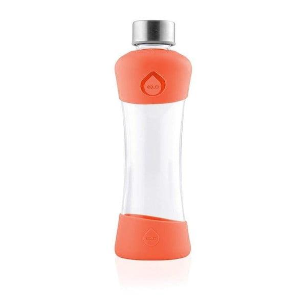 Oranžová skleněná láhev z borosilikátového skla Equa Active Tangerine, 550ml