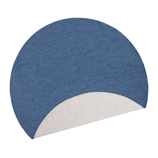 Covor adecvat pentru exterior Bougari Miami, Ø 140 cm, albastru