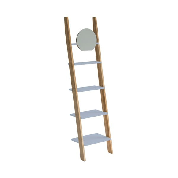 Ashme Ladder világosszürke létrapolc tükörrel - Ragaba