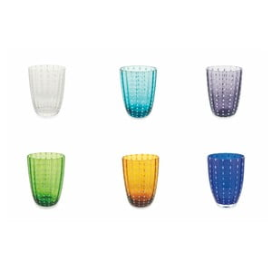 Sada 6 barevných sklenic Villa d´Este Kalahari