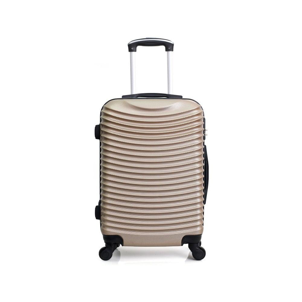 Cestovní kufr ve zlatobéžové barvě na kolečkách Hero Etna, 96 l