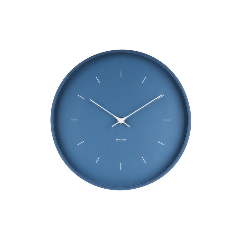 Modré nástěnné hodiny Karlsson Butterfly, Ø 27,5 cm