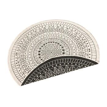 Covor pentru exterior Bougari Porto, ⌀ 140 cm, negru-crem imagine