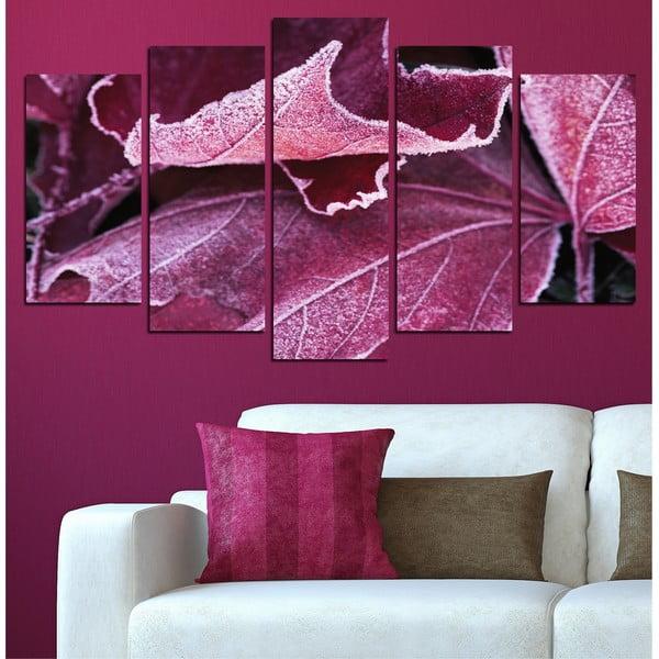 5dílný obraz Podzimní listí
