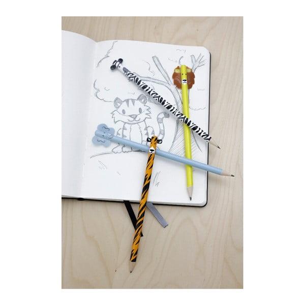 Set 4 creioane Kikkerland Safari