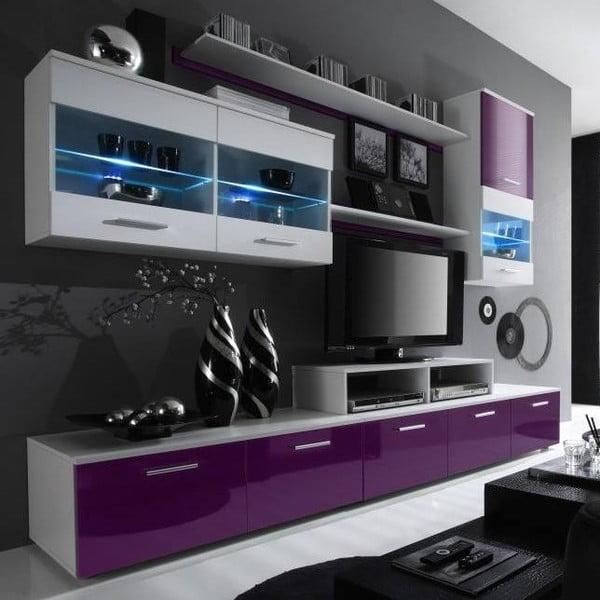 Obývací stěna Ogo, fialová