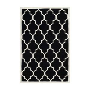 Černý vlněný koberec Safavieh Alameda, 182x274cm