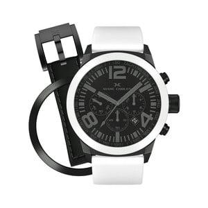 Unisex hodinky Marc Coblen s páskem a kroužkem navíc P44