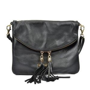 Černá kožená kabelka Anna Luchini Missillo