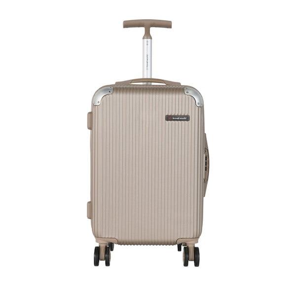 Béžové kabinové zavazadlo Travel World Luxury, 55 x 34 cm