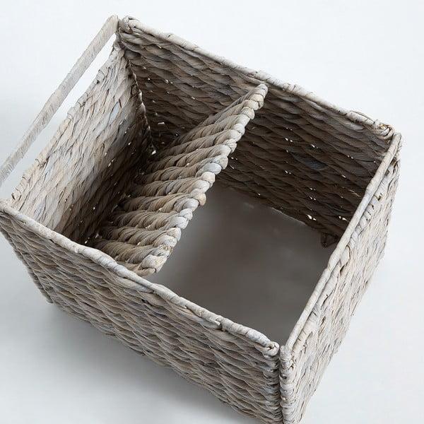 Sada 2 proutěných úložných boxů s bílým detailem La Forma Woody