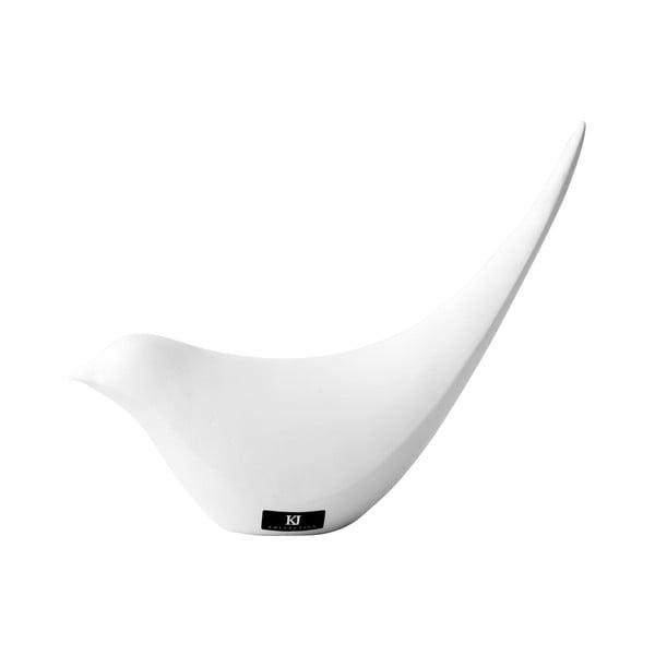 Dekorativní ptáček, bílý
