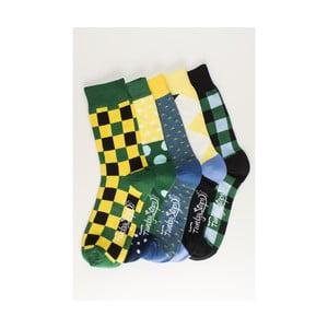 Sada 5 párů unisex ponožek Funky Steps Oribel, velikost 39/45