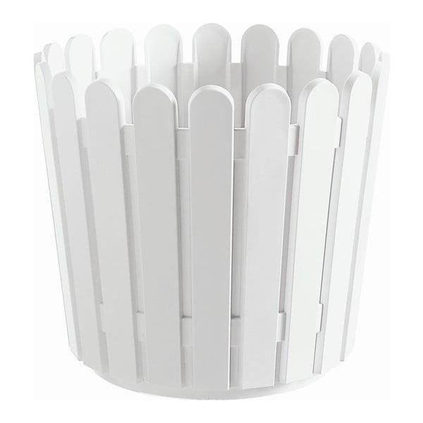 Květináč Round Planter White, 30x27 cm