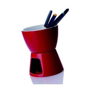 Sada na fondue Clique, červená
