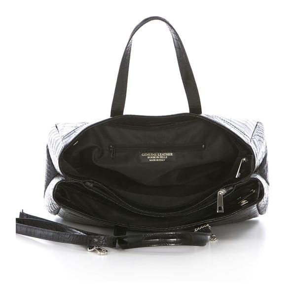 Černá kožená kabelka Federica Bass Eris