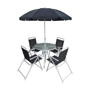 Set zahradního kovového nábytku se slunečníkem Timpana Rossi