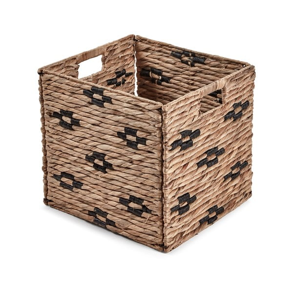 Hnedý košík s čiernymi detailmi La Forma Wooland, 35 × 32 cm