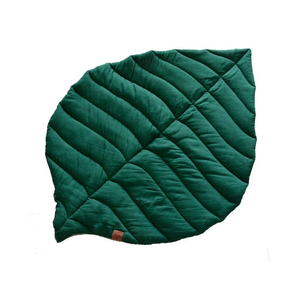 Pătură din in pentru copii VIGVAM Design Buk, verde