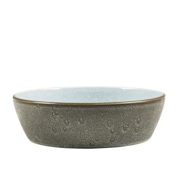 Bol din ceramică și glazură interioară albastru deschis Bitz Mensa, diametru 18 cm, gri