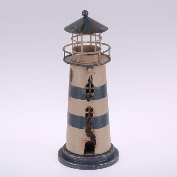 Kovový závěsný svícen Blue Lighthouse, 22 cm