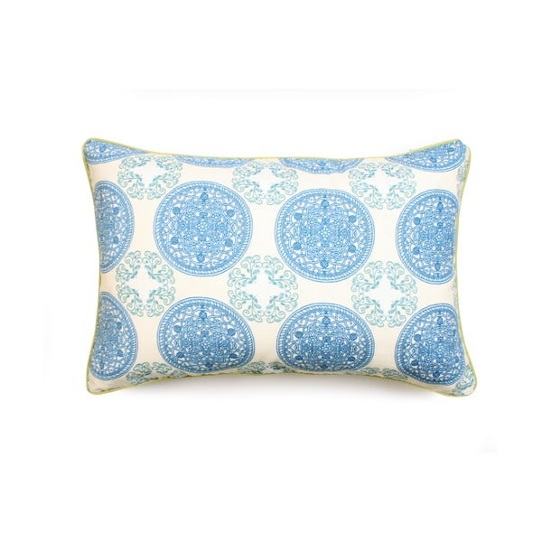 Față de pernă WeLoveBeds Ornaments, 40 x 60 cm, albastru