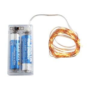Světelný LED řetěz v měděné barvě Opjet Paris Argente, délka2m
