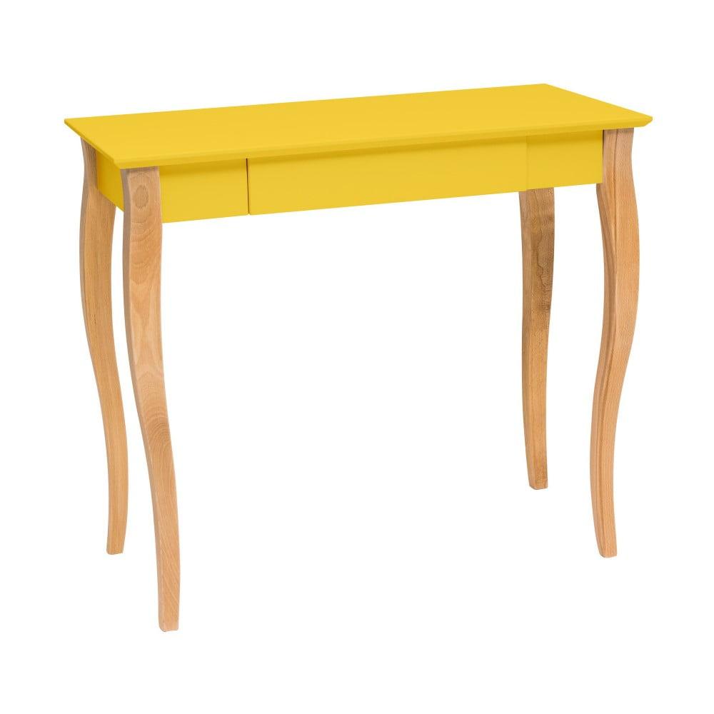 Žlutý psací stůl Ragaba Lillo, délka 85 cm