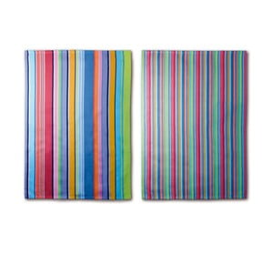 Set 2 prosoape Remember Purple Stripes, 70 x 50 cm