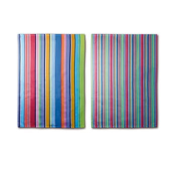Set 2 prosoape din bumbac Remember Purple Stripes, 70 x 50 cm imagine