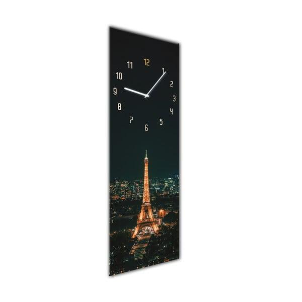 Ceas de perete Styler Glassclock Paris, 20 x 60 cm