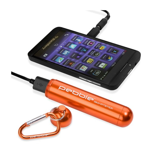 Chytrá nabíječka na cesty Pebble Smartstick VPP-004, tmavě oranžová
