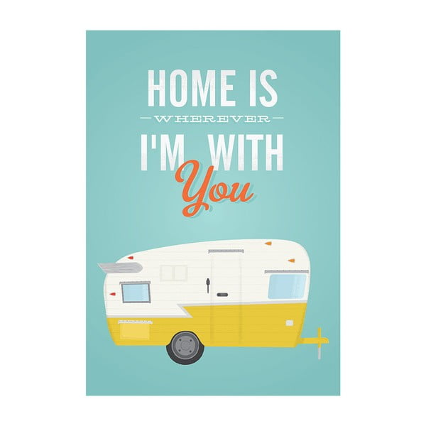 Plakát Home Is Wherever I'm With You